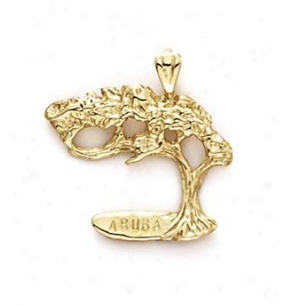 14k Arba Tree Pendant
