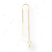 14k Aurora Boreale Crystal Bead Threader Earrings