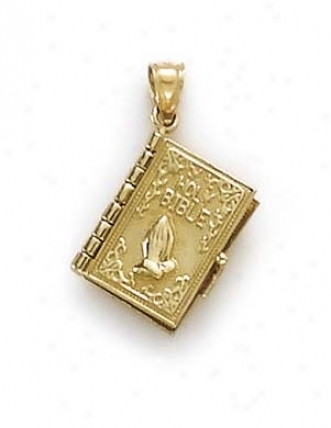 14k Bible Lords Prayer Pendant