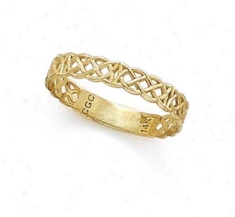 14k Celtic Band Thumb Ring