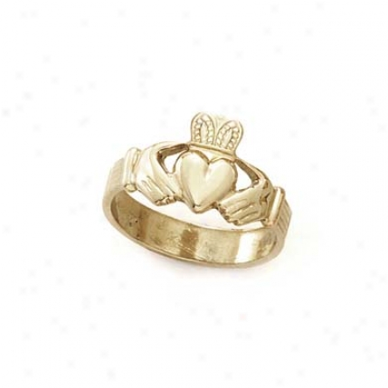 14k Claddagh Mens Ring