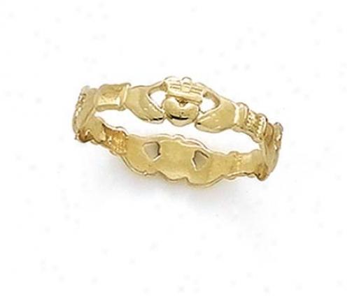 14k Claddagh Thumb Ring