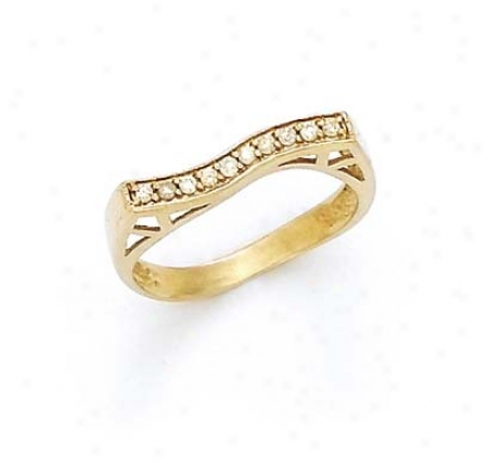 14kk Doamond Wave Ring