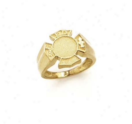 14k Fire Department Ring