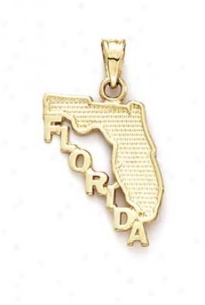 14k Florida Map Pendant