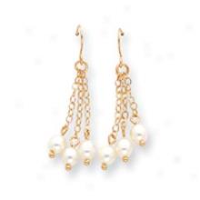14k Freshwater Cultured Pearl Dangle Earrings