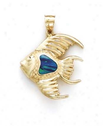 14k Goldfih Opal Pendant