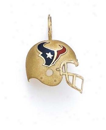 14k Houston Texans Pendant