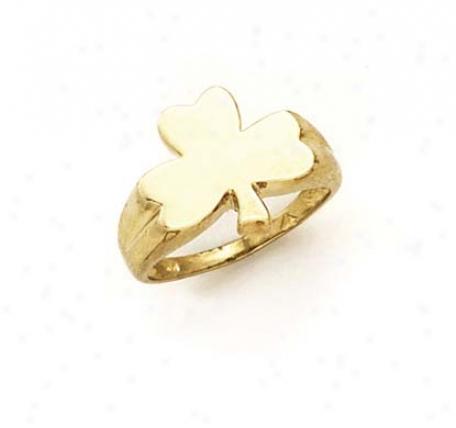 14k Ladies 3-leaf Clover Ring