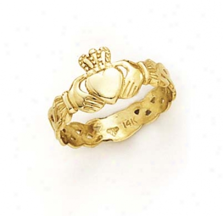 14k Ladies Claddagh Ring
