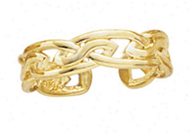 14k Large Celtic Knot Toe Ring