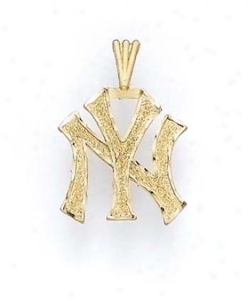 14k Large Ny Yankees Pendant