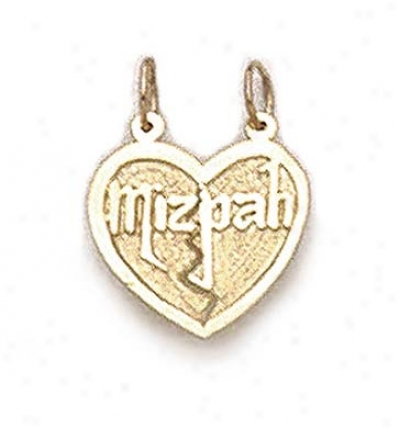 14k Mizpah Break-apart Pendant