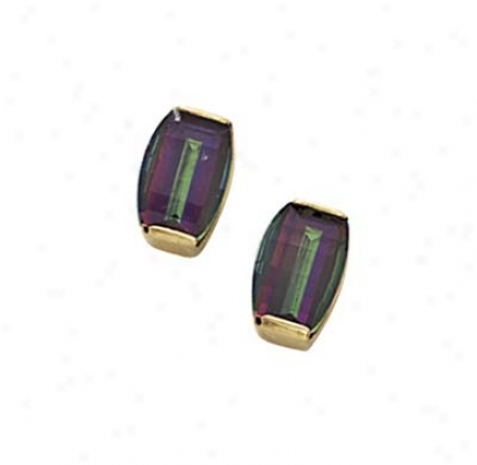 14k Mystic Topaz Earrings
