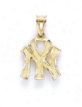 14k New York Yankees Pendant