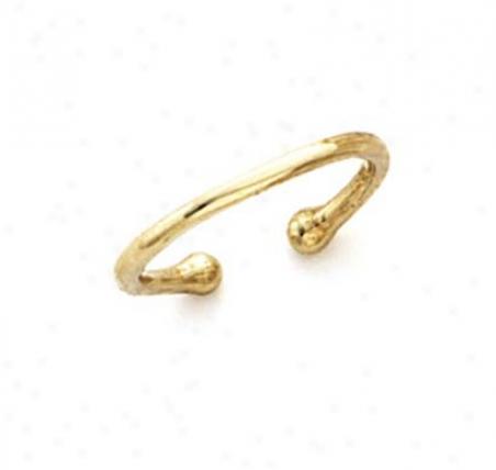 14k Plain Band Adnustable Toe Ring