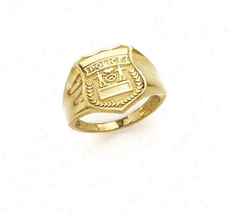 14k Police Badge Ring