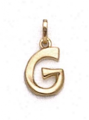 15k Polished Initial G Penddant 11/16 Inch Long