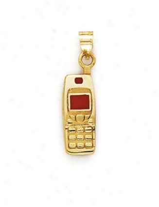 14k Red Cell Phone Pendant