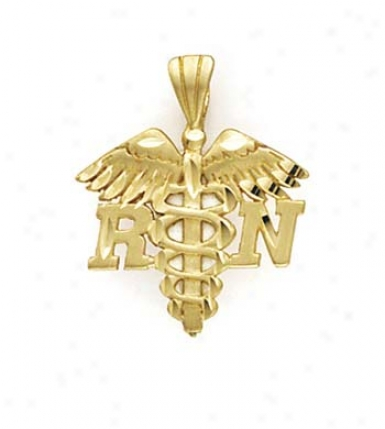14k Registered Nurse Symbol Pendant