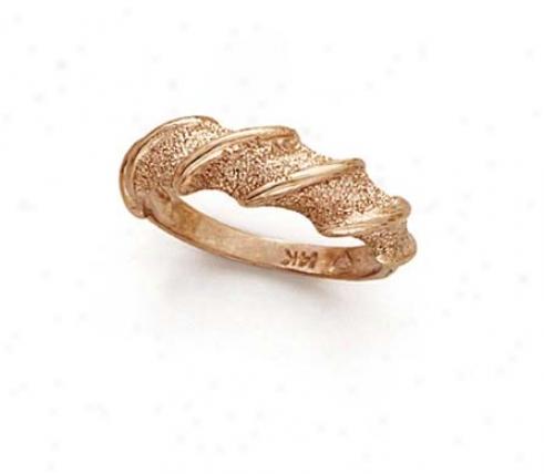 14k Rose Pink Spiral Ring
