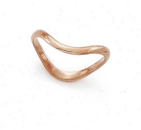 14k Rose Wave Rose Thumb Ring
