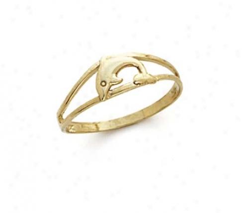 14k Single Dolphin Clique