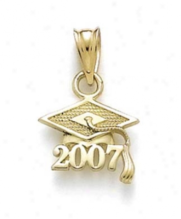 14k Small 2007 Grad Match Pendant