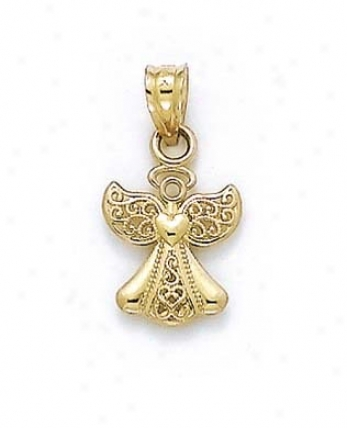 14k Small Angel Pendant