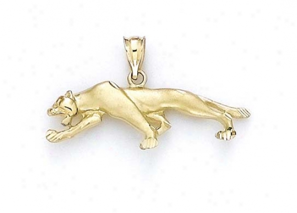 14k Small Panther Pendant