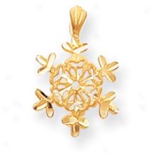 14k Snowflake Pendant