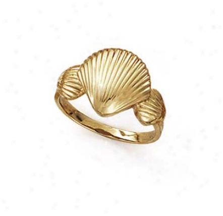 14k Triple Shell Ring
