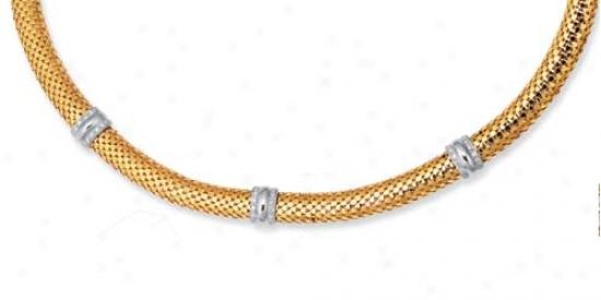 14k Two-toe Fancy Design Necklace - 18 Inch