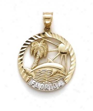 14k Two-tobe Florida Pendant