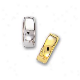 14k Two-tone Hinged Reversible Earrings