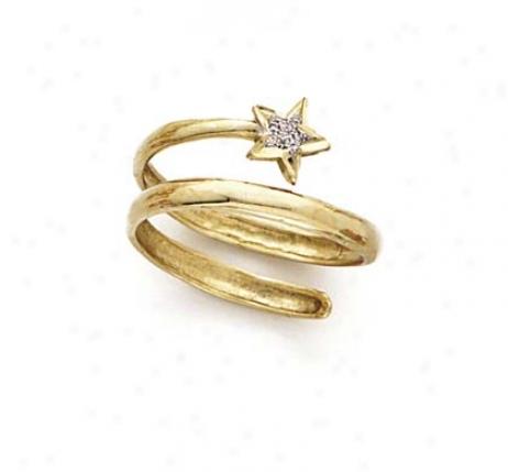 14k Two-tone Spira Star Ring