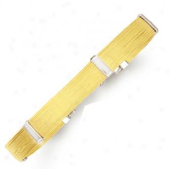 14k Two-tone Stylish Bracelet - 7 Inch