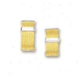 14k Two-tone Stylish Earrings