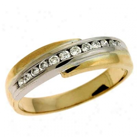 14k Two-tone Trendy 0.25 Ct Diamond Tingle