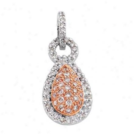 14k Two--tone Tredy 0.51 Ct Diamond Pendant