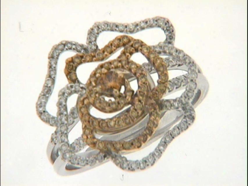 14k Two-tone Trendy Yellow 0.72 Ct Diamond Ring
