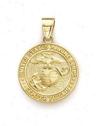 14k Us Marine Corps Pendant