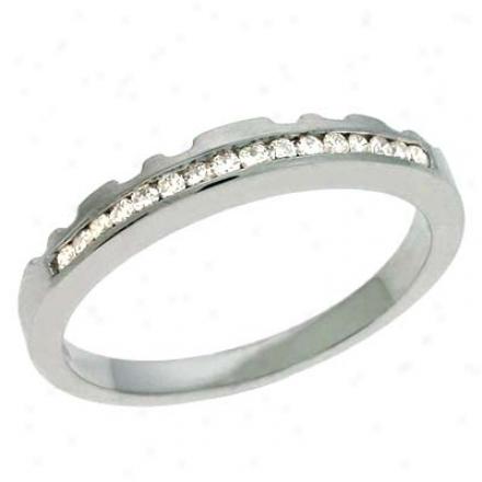 14k Happy 0.15 Ct Diamond Band Ring