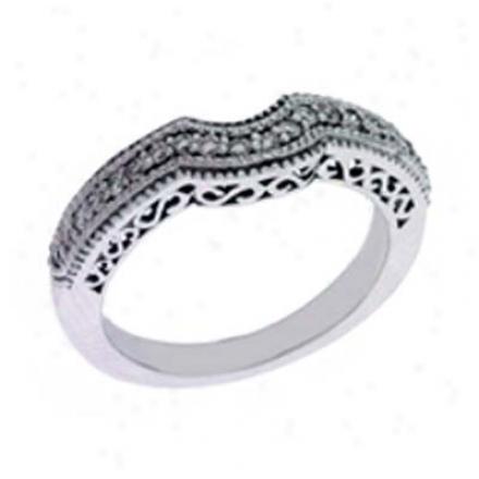 14k Pale 0.26 Ct Diamond Band Ring