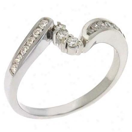 14k White 0.33 Ct Diamond Band Ring