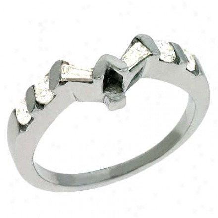 14k White 0.39 Ct Diamond Band Ring