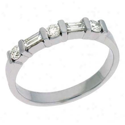 14k White 0.41 Ct Diamond Band Ring