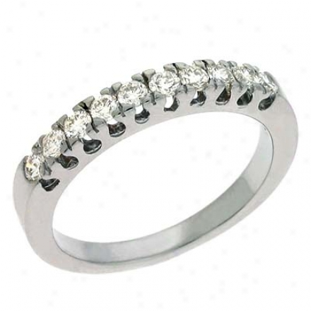 14k White 0.42 Ct Diamond Band Ring
