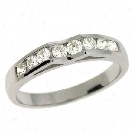 14k White 0.47 Ct Diamond Band Ring