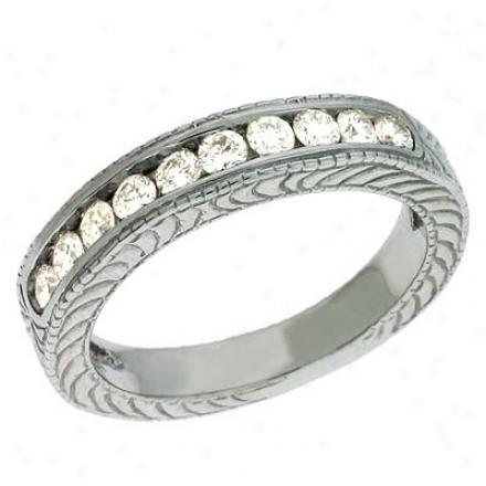 14k White 0.48 Ct Diamond Band Ring